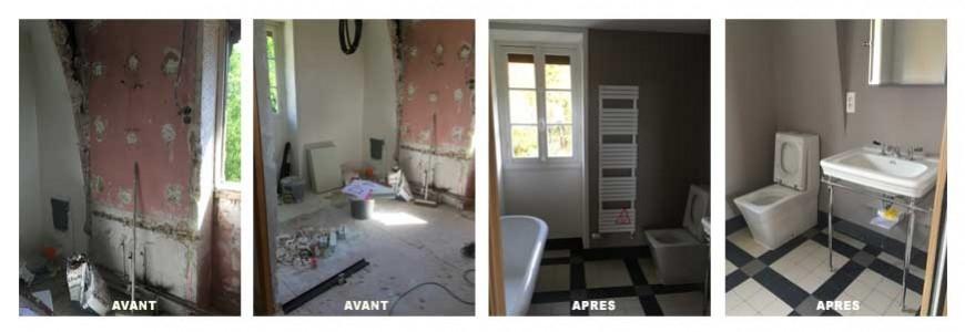 Rénovation d'une salle de bain à Cergy Pontoise