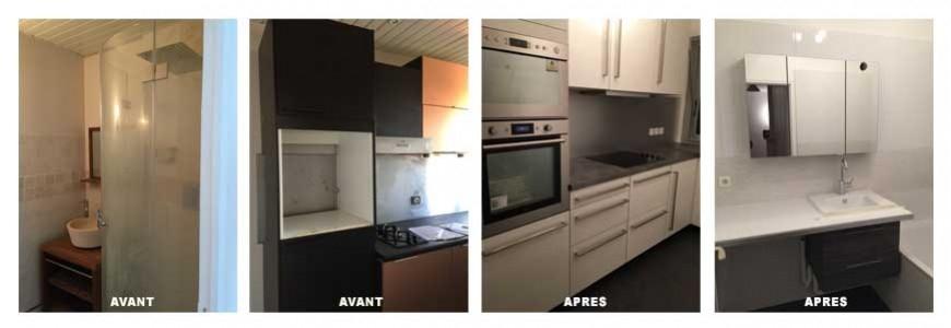 Rénovation d'une cuisine et d'une salle de bain à Puteaux dans le 92.