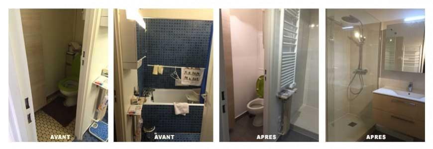 Renovation d'une salle de bain rue Alésia , paris 14.