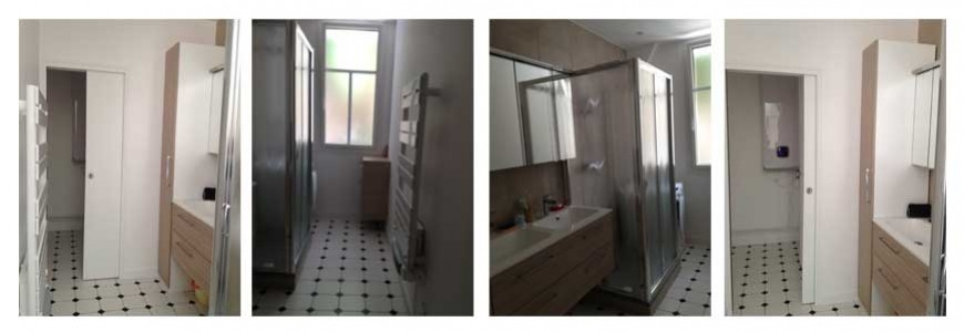 Chnatier de renovation d'une salle de bain paris 15
