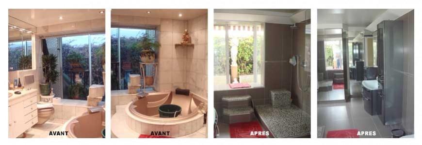 rénovation d'une salle de bain paris 15 rue de Vaugirard