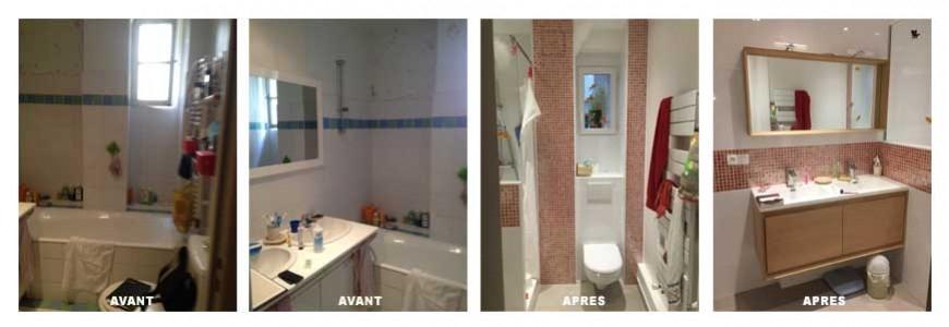 Renovation d'une salle de bain paris 17