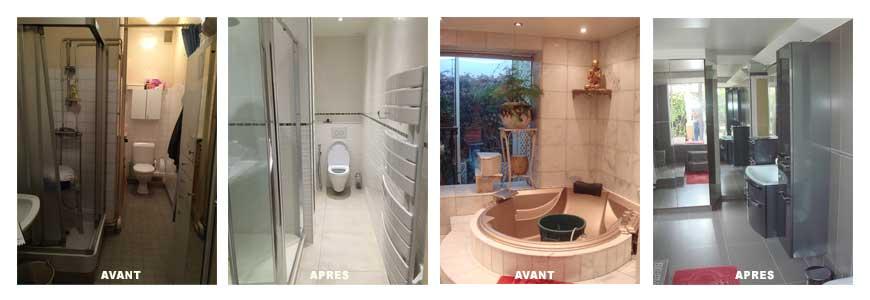 Réhabilitation de salle de bains et de cuisines