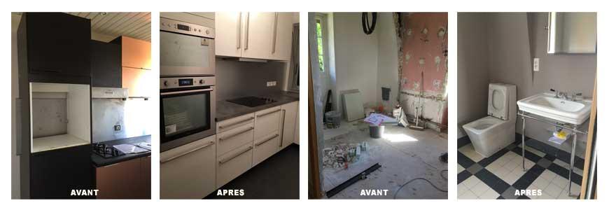 Renovation de salle de bain et de cuisine