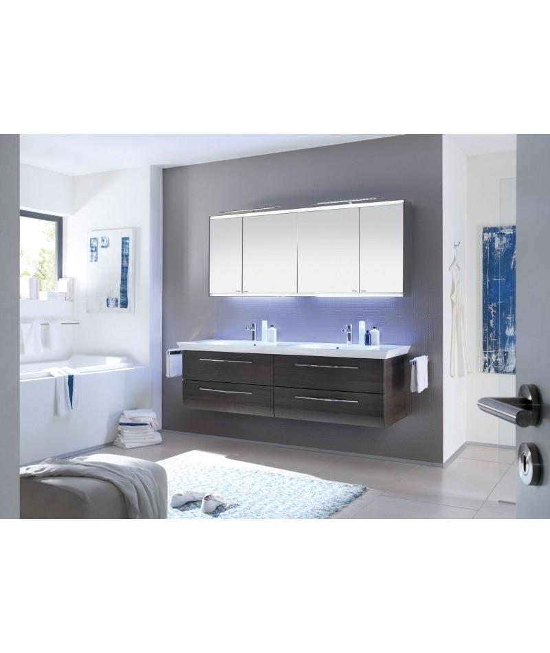 Meubles suspendus azur lign mod le vialo abc - Modele salle de bain contemporaine ...