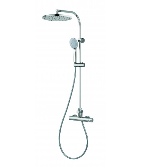 Mitigeur douche avec colonne de douche fixe