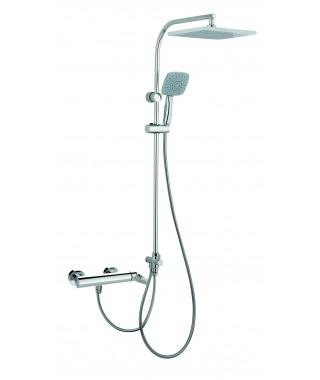 Mitigeur douche avec colonne de douche fixe externe GRB Grober