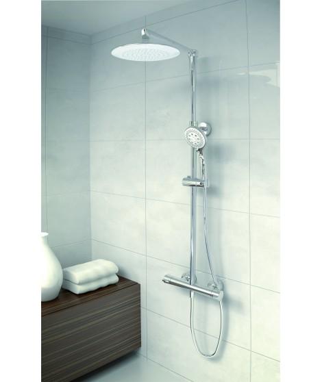 Mitigeur douche thermostatique Jolie avec colonne et douche de tête Snow