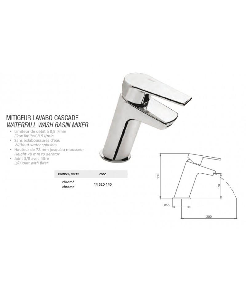 mitigeur lavabo cascade grb grober abc. Black Bedroom Furniture Sets. Home Design Ideas