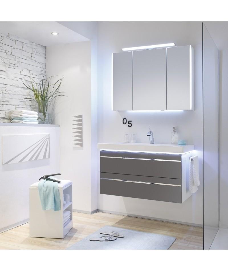 Meubles suspendus azur lign mod le balto abc - Modele salle de bain contemporaine ...